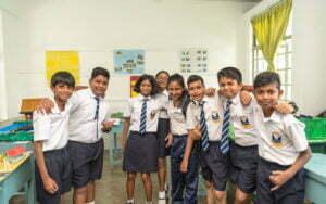 Junior school students of Stafford International School