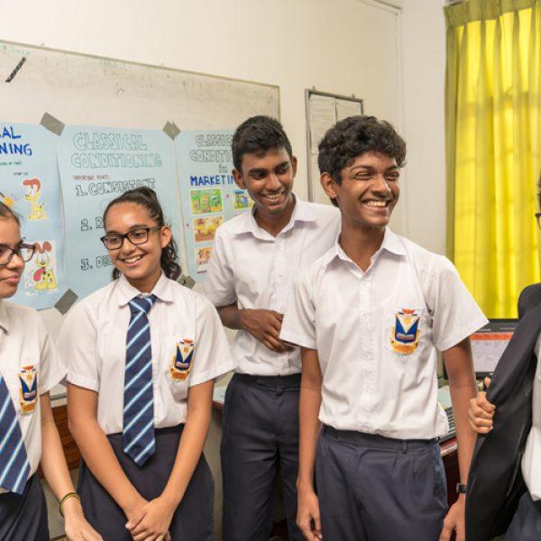 Photograph taken of the Students of Stafford International School in Sri Lanka
